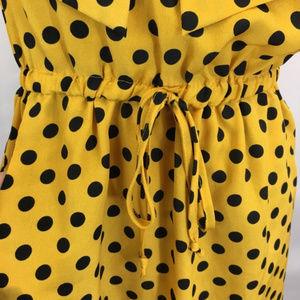 BeBop Dresses - Yellow with Navy Polkadot Bebop Dress